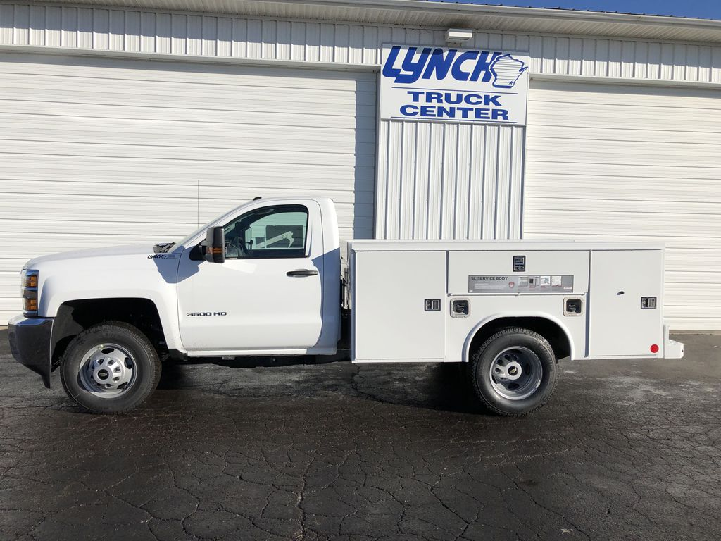 2019 Silverado 3500 Regular Cab DRW 4x4,  Reading SL Service Body #21877T - photo 4