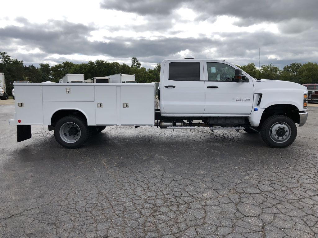 2019 Silverado Medium Duty Crew Cab DRW 4x4, Reading Classic II Steel Service Body #22239T - photo 14