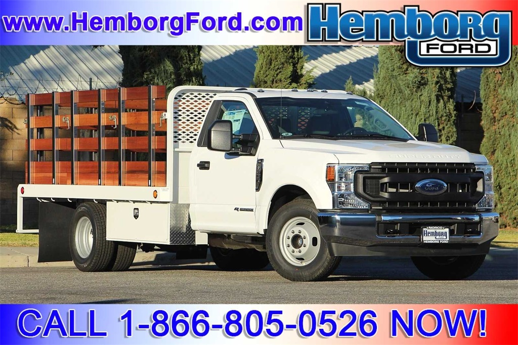 2021 Ford F-350 Regular Cab DRW 4x2, Scelzi Stake Bed #00210202 - photo 1