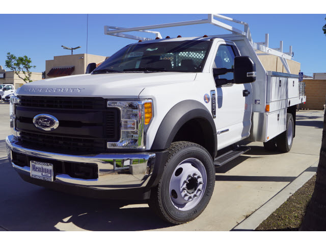 2017 F-450 Regular Cab DRW 4x2,  Harbor Contractor Body #117393 - photo 4