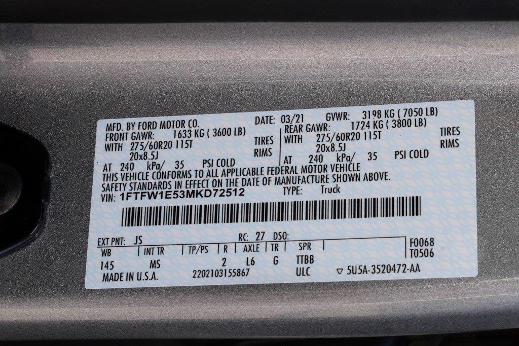 2021 Ford F-150 SuperCrew Cab 4x4, Pickup #JD72512 - photo 38