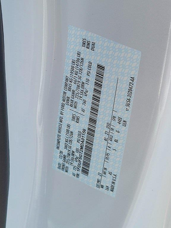 2021 Ford F-550 Regular Cab DRW 4x2, Cab Chassis #JDA01156 - photo 29
