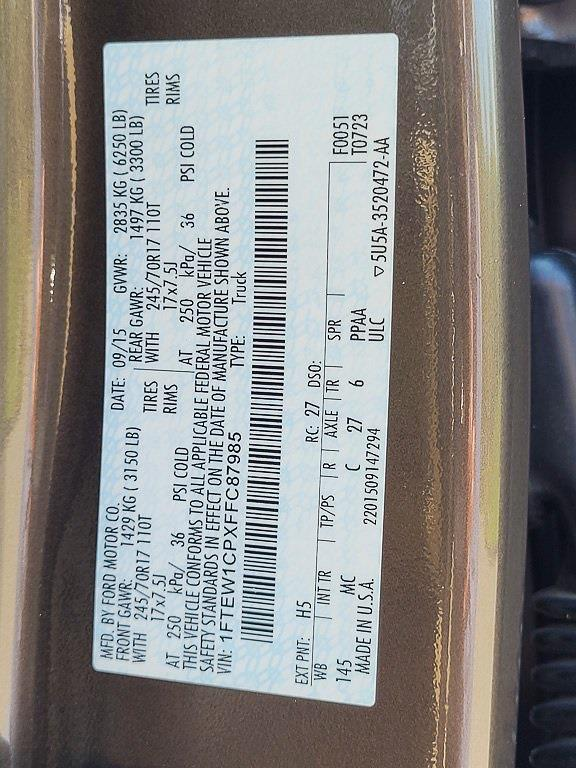 2015 F-150 SuperCrew Cab 4x2,  Pickup #JE35074A - photo 28