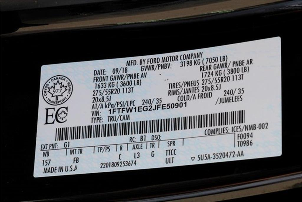 2018 Ford F-150 SuperCrew Cab 4x4, Pickup #JP2381 - photo 30