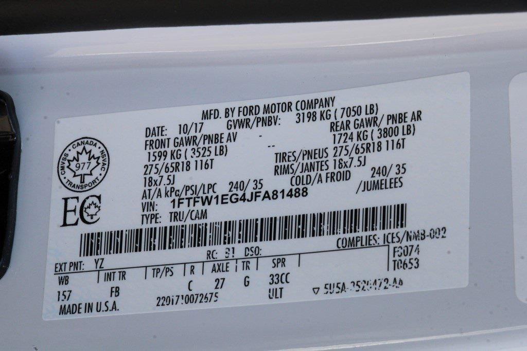 2018 Ford F-150 SuperCrew Cab 4x4, Pickup #JP2436 - photo 34