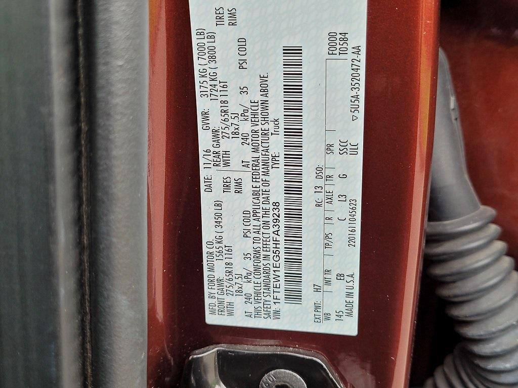 2017 F-150 SuperCrew Cab 4x4,  Pickup #JP2559 - photo 35