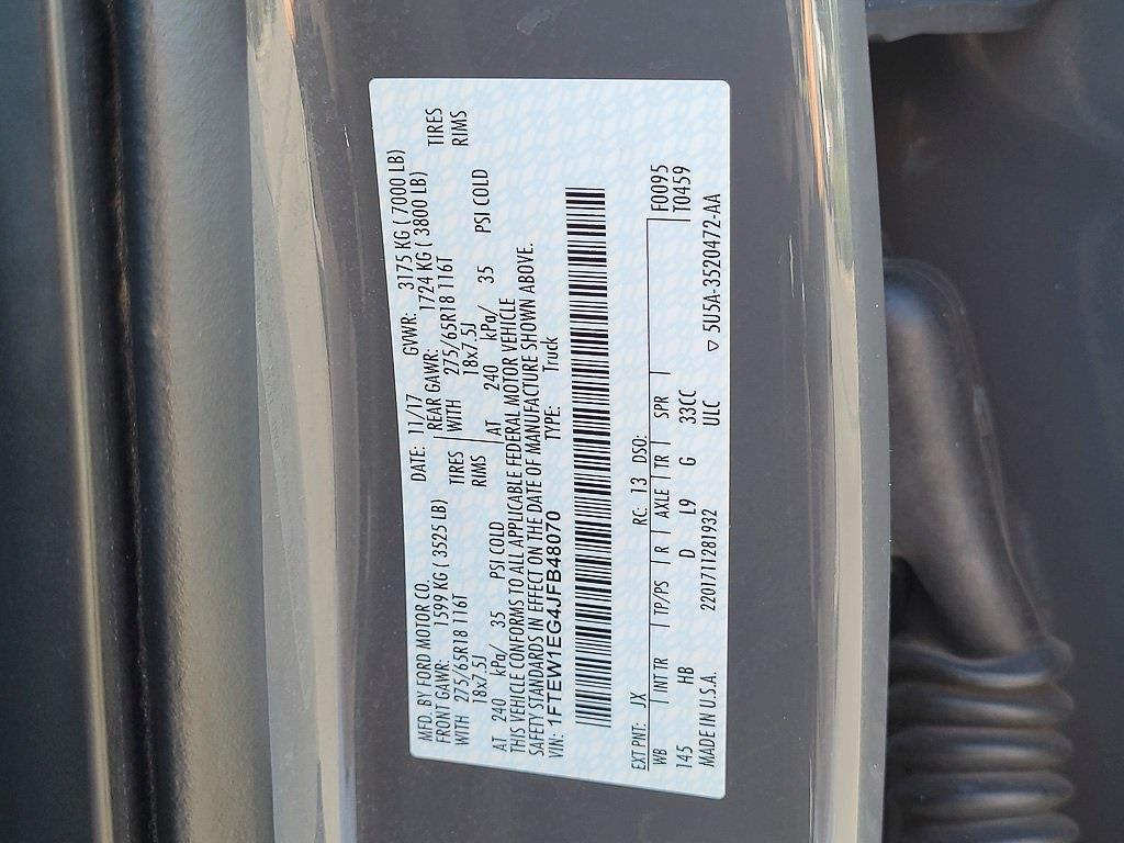 2018 F-150 SuperCrew Cab 4x4,  Pickup #JP2575 - photo 43