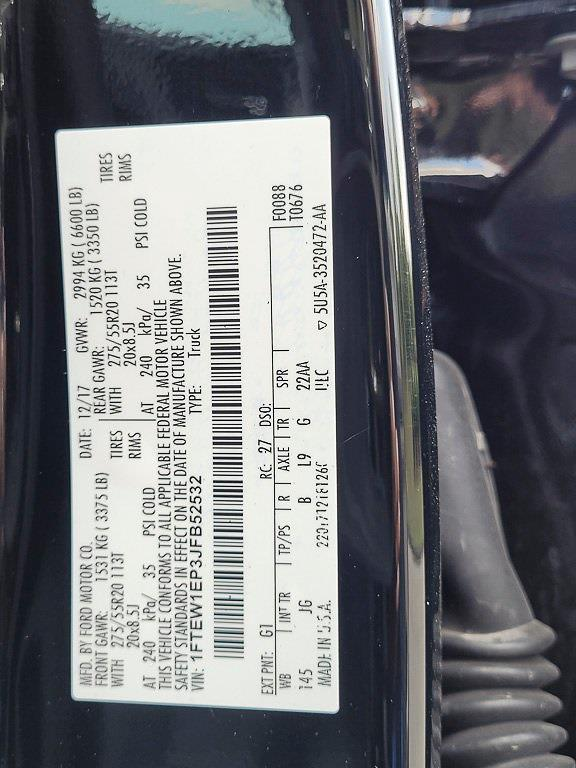 2018 Ford F-150 SuperCrew Cab 4x4, Pickup #JXUP4017 - photo 30