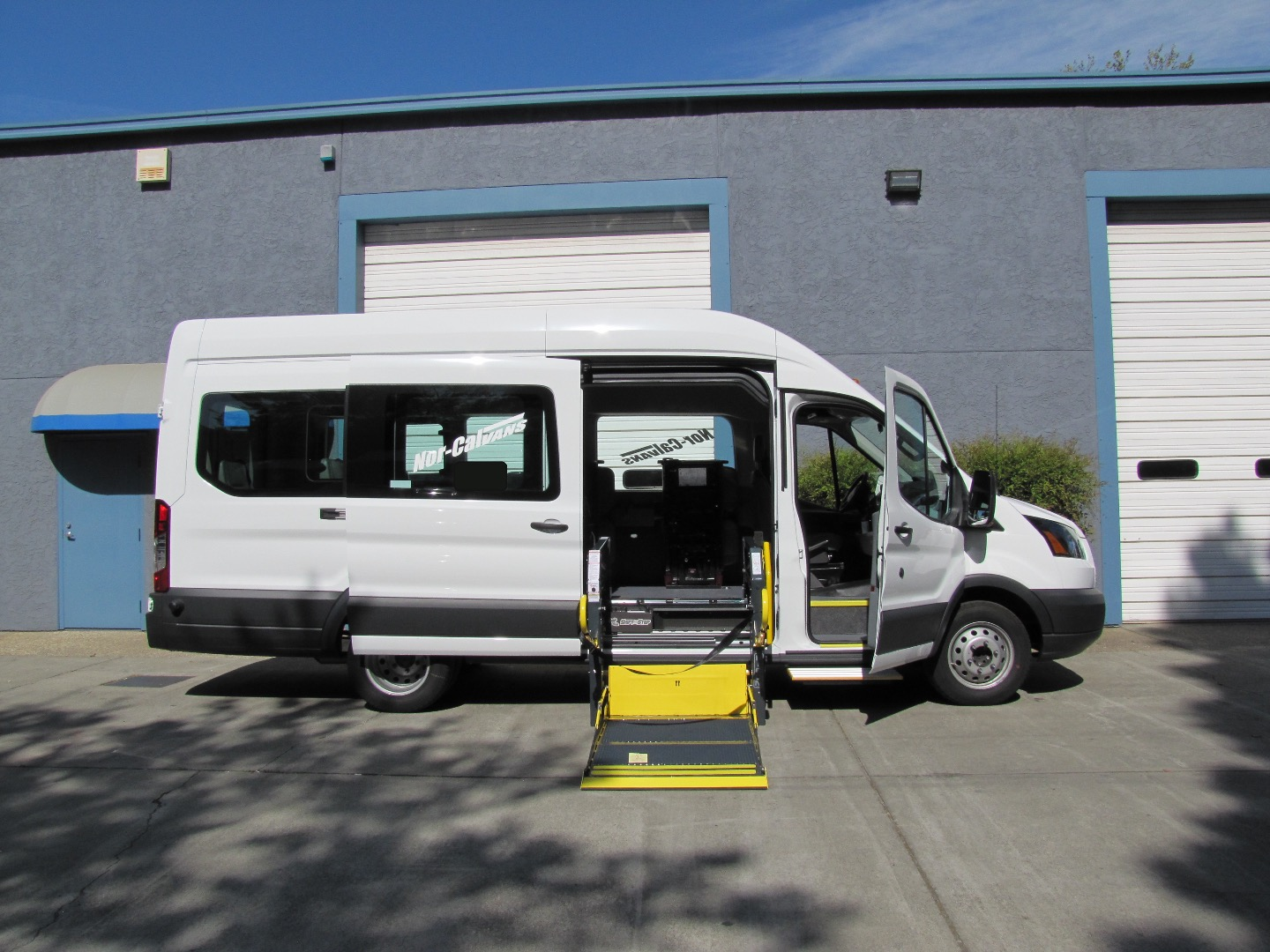 2018 Ford Transit 350 HD High Roof DRW 4x2, Wheelchair Van with Shift N' Step and Curbside Access #KB06570 - photo 1