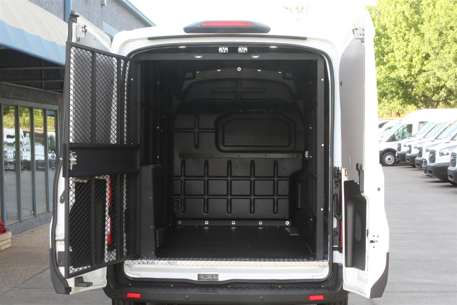 2019 Ford Transit 150 Med Roof 4x2, Ford Transit Secure Transport with Rear A/C #KB76785 - photo 1