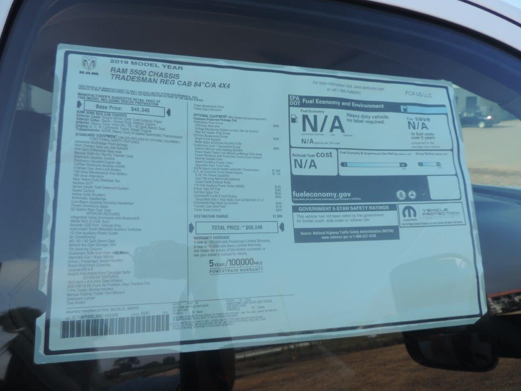 2019 Ram 5500 Regular Cab DRW 4x4,  Palfinger PAL Pro 39 Mechanics Body #535505 - photo 27