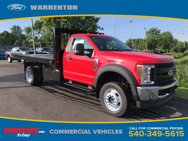 2019 F-550 Regular Cab DRW 4x4,  Knapheide Platform Body #YA17896 - photo 1