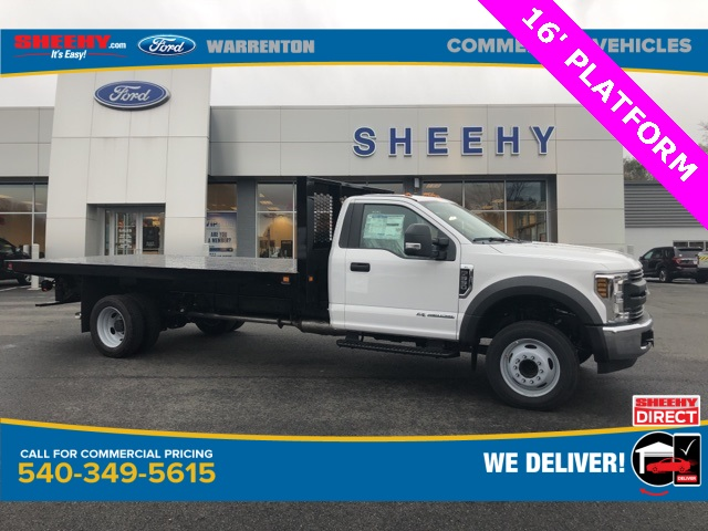 2019 Ford F-550 Regular Cab DRW 4x2, Knapheide Platform Body #YA27173 - photo 1