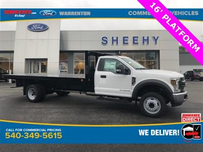 2019 F-550 Regular Cab DRW 4x2, Knapheide Value-Master X Platform Body #YA27173 - photo 1