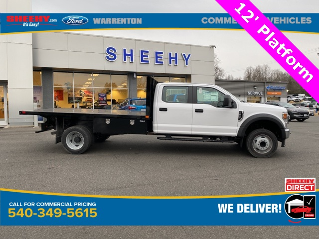 2021 Ford F-450 Crew Cab DRW 4x2, PJ's Platform Body #YC14359 - photo 4