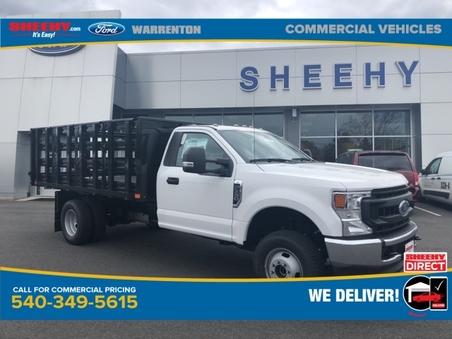 2020 Ford F-350 Regular Cab DRW 4x4, PJ's Stake Bed #YC64388 - photo 1