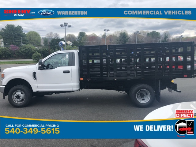 2020 Ford F-350 Regular Cab DRW 4x4, PJ's Stake Bed #YC64388 - photo 7