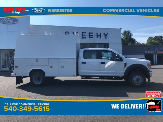 2020 Ford F-450 Crew Cab DRW 4x4, Reading Panel Service Body #YD42322 - photo 4