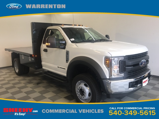 2019 F-550 Regular Cab DRW 4x2,  PJ's Platform Body #YE60632 - photo 1