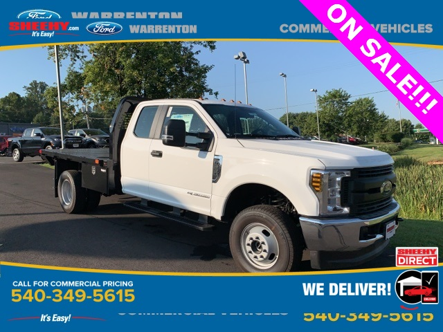 2019 F-350 Super Cab DRW 4x4, PJ's Platform Body Hauler Body #YF03562 - photo 1