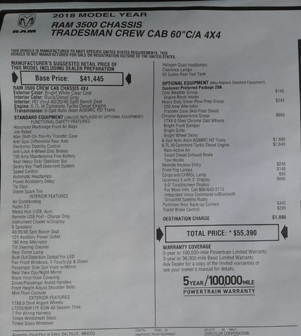 2018 Ram 3500 Crew Cab DRW 4x4,  Knapheide Service Body #10055 - photo 32