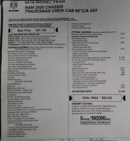 2018 Ram 3500 Crew Cab DRW 4x4,  Carolina Custom Products Platform Body #10180 - photo 31