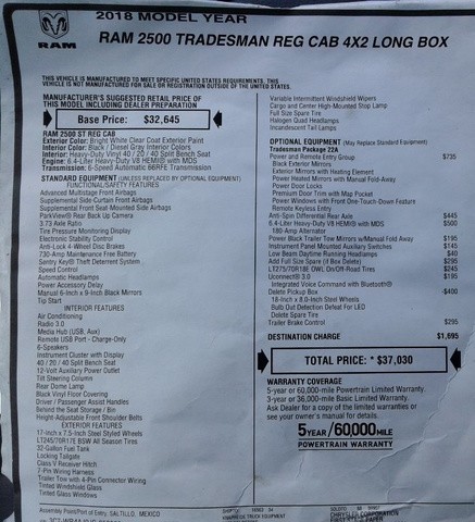 2018 Ram 2500 Regular Cab 4x2,  Knapheide Service Body #10354 - photo 29