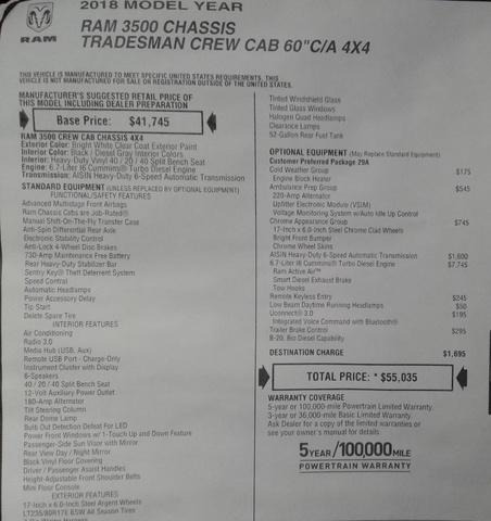 2018 Ram 3500 Crew Cab DRW 4x4,  Knapheide Platform Body #10550 - photo 30