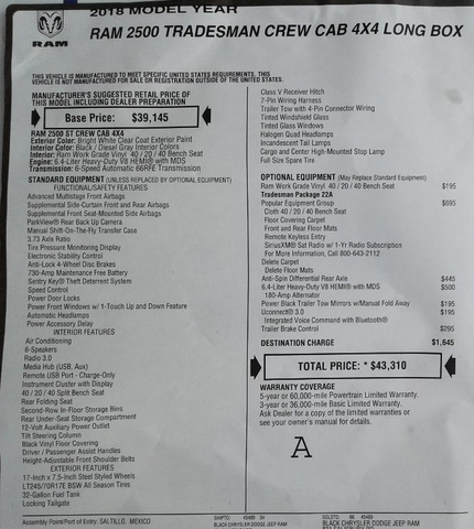 2018 Ram 2500 Crew Cab 4x4,  Knapheide Service Body #N9247X - photo 31