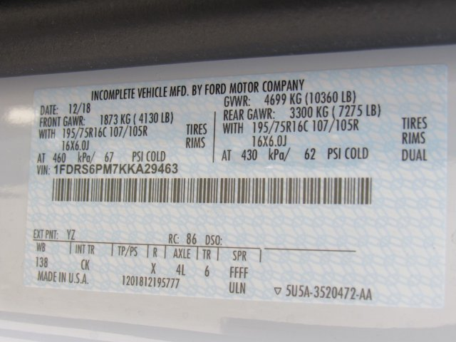 2019 Transit 350 HD DRW 4x2,  Reading Aluminum CSV Service Utility Van #MF9241 - photo 17