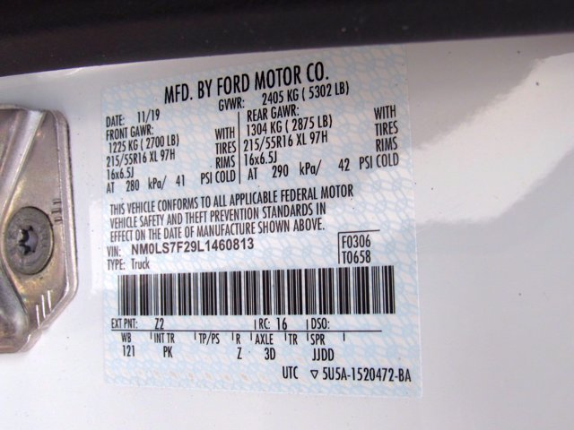 2020 Ford Transit Connect FWD, Empty Cargo Van #MFU0237 - photo 20