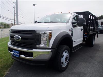 2019 Ford F-550 Regular Cab DRW 4x4, Knapheide Value-Master X Stake Bed #MFU91039 - photo 4
