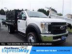 2019 Ford F-550 Regular Cab DRW 4x4, Knapheide Value-Master X Stake Bed #MFU91039 - photo 1