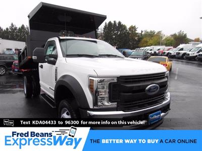 2019 Ford F-550 Regular Cab DRW 4x4, Rugby Eliminator LP Steel Dump Body #MFU9663 - photo 1