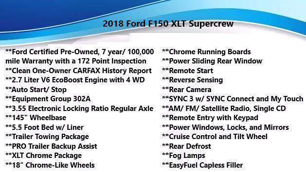 2018 Ford F-150 SuperCrew Cab 4x4, Pickup #FL011421 - photo 5