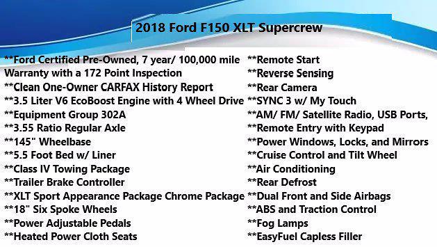 2018 Ford F-150 SuperCrew Cab 4x4, Pickup #FL100891 - photo 5