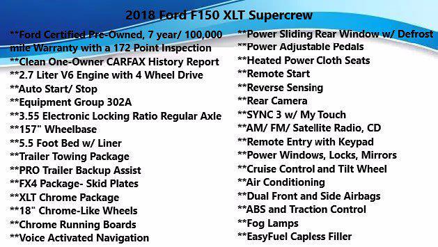 2018 Ford F-150 SuperCrew Cab 4x4, Pickup #FL101011 - photo 5