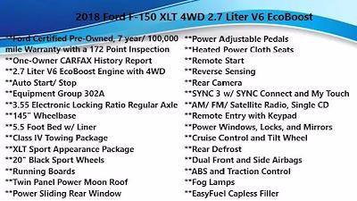 2018 Ford F-150 SuperCrew Cab 4x4, Pickup #FL102261 - photo 5
