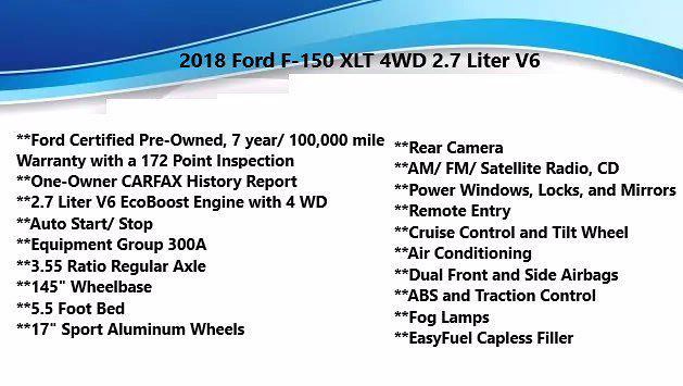 2018 Ford F-150 SuperCrew Cab 4x4, Pickup #FL1033D1 - photo 4