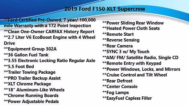 2019 Ford F-150 SuperCrew Cab 4x4, Pickup #FL1047D - photo 6