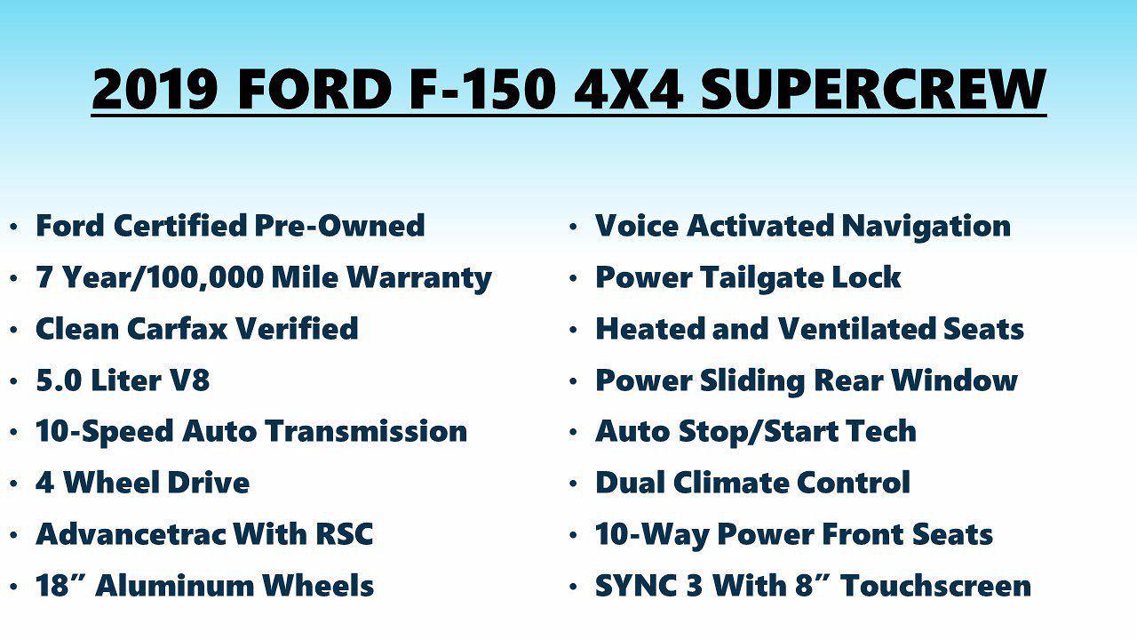 2019 F-150 SuperCrew Cab 4x4,  Pickup #FL105161 - photo 5