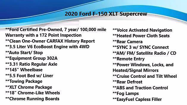 2020 Ford F-150 SuperCrew Cab 4x4, Pickup #FL1085D - photo 36