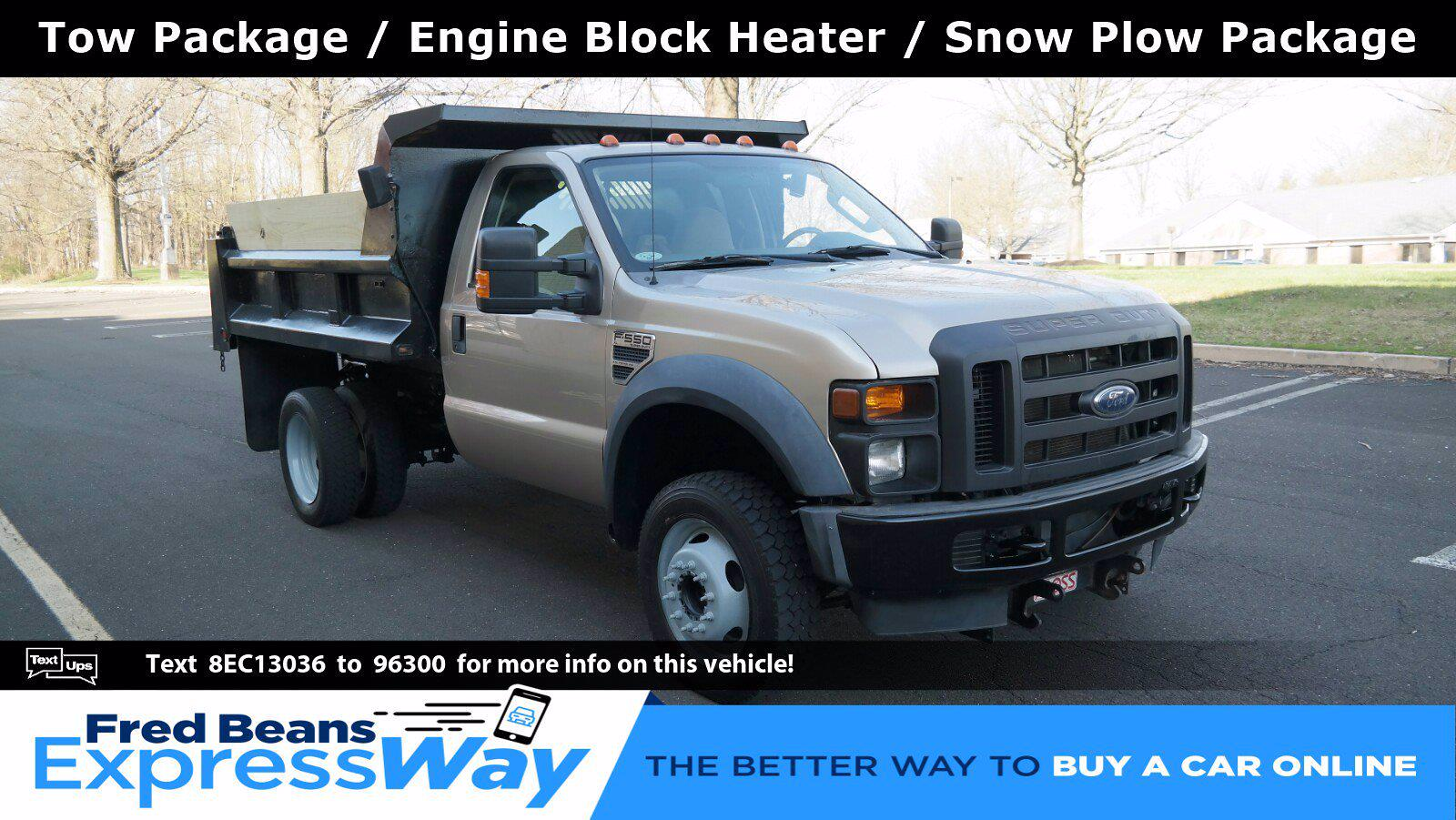 2008 Ford F-550 Regular Cab DRW 4x4, Dump Body #FL1138J - photo 1