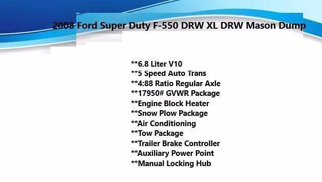 2008 Ford F-550 Regular Cab DRW 4x4, Dump Body #FL1138J - photo 5