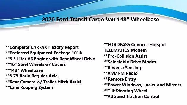 2020 Ford Transit 250 Med Roof 4x2, Empty Cargo Van #FL1146J - photo 4