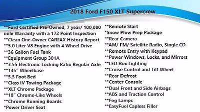 2018 Ford F-150 SuperCrew Cab 4x4, Pickup #FL1152D - photo 5