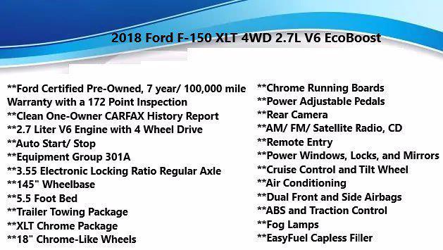 2018 Ford F-150 SuperCrew Cab 4x4, Pickup #FL1178D - photo 4