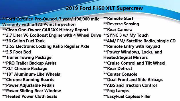 2019 Ford F-150 SuperCrew Cab 4x4, Pickup #FL1226D - photo 4
