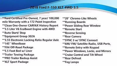 2018 F-150 SuperCrew Cab 4x4,  Pickup #FL1234D - photo 1
