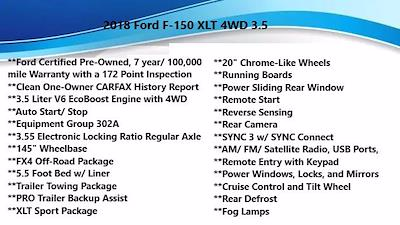 2018 Ford F-150 SuperCrew Cab 4x4, Pickup #FL1234D - photo 5